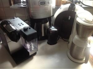 コーヒーメーカー 4台